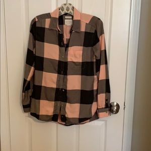 American eagle pink and gray flannel